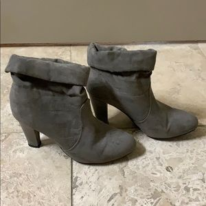 Express gray slouch booties